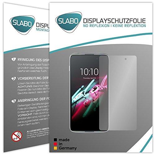 Slabo 4 x Bildschirmschutzfolie für Alcatel Onetouch Idol 3 (5,5 Zoll) Bildschirmfolie Schutzfolie Folie Zubehör No Reflexion MATT