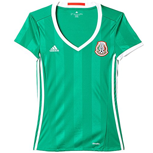 adidas MEXICO NATIONAL SOCCER TEAM 2016 COPA AMERICA WOMEN'S HOME JERSEY (Medium)