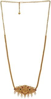 AccessHer Gold-Toned & Ruby Artificial Stone Studded Matte Sustainable Kamarbandh for Women & Girls