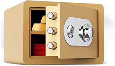 ZZHBXG Safes Mechanical Password Deposit Box, Wardrobe 25cm with Key Mini Invisible Bedside Code Safes Office All-Steel Anti-