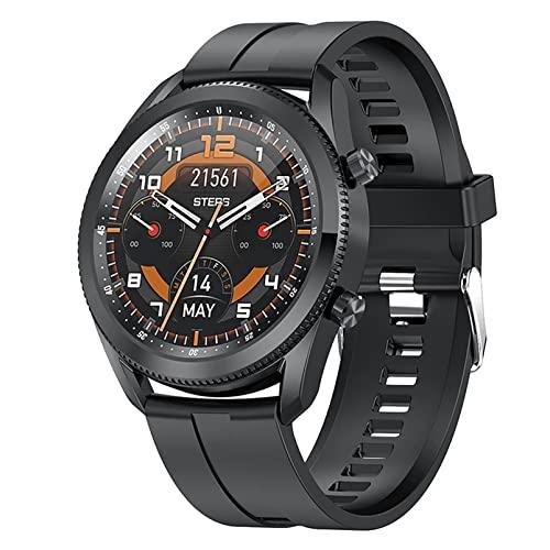 ZGZYL L61 Bluetooth Call Smart Watch con Presión Arterial Y Monitoreo De Ritmo Cardíaco Watch Men's Fitness Watch Reloj De Cronómetro Podómetro Sports Reloj Deportivo,B