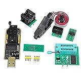 Kit de módulo de programador de BIOS USB EPROM FLASH con clip Ch341A + Soic8 + adaptador de 1,8 V + adaptador Soic8, apto para flash de la serie 24 25 según imagen