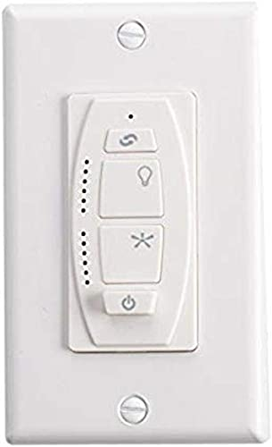 discount Kichler 370036WHTR Accessory 6-Speed DC new arrival Wall Transmitter, 2021 White Material (Not Painted) online sale