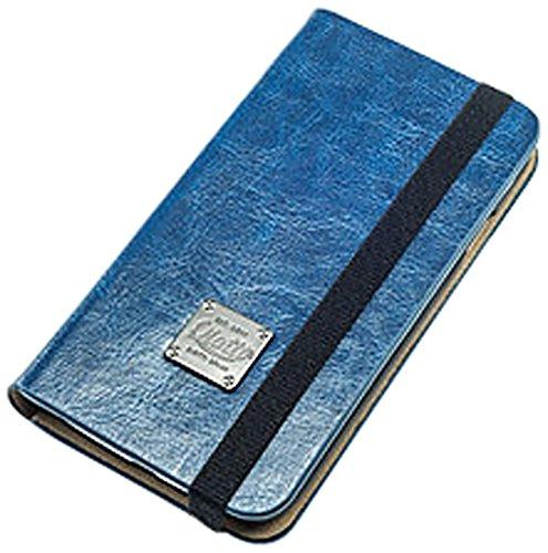 QIOTTI Book Slim Classic Etui pour Samsung Galaxy S4 GT-I9505 Bleu