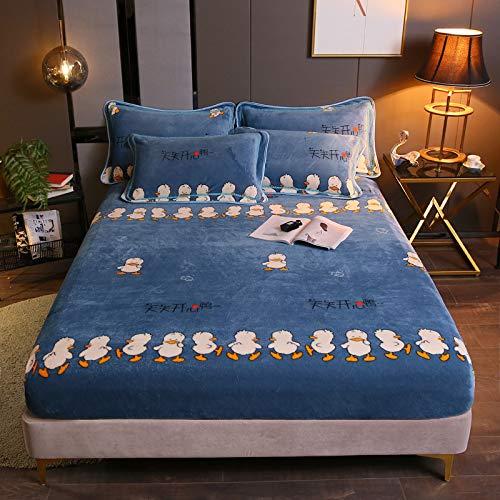 BIANXU Funda de colchón de franela cálida para cama de invierno, súper suave, grande y individual, 120 x 200 x 30 cm, sin funda de almohada