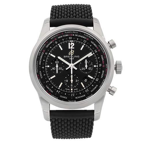 Breitling Transocean Unitime Pilot AB0510U6/BC26-256S - Reloj para hombre con correa de goma negra