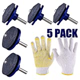 TUPARKA 5 Packs Lawn Mower Blade Sharpener for Drill with 1 pair of gloves,Lawn Mower Sharpener Grinder...
