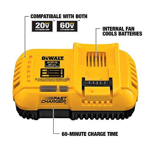 DEWALT 60V MAX FLEXVOLT Lithium Battery with Charger, 9-Ah (DCB118X1)