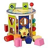 XUMING Smart Box Building Blocks, Juguetes educativos Modelo de Rompecabezas 3D, Cuentas de Madera, Capacidad de Lectura y Escritura, Adecuado para niños de 3-7