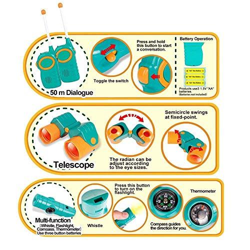 子供用テントキッズテントセット折り畳み式キャンプセット知育玩具望遠鏡ウォーターボトルショベル懐中電灯トランシーバー秘密基地お誕生日出産祝いのプレゼント