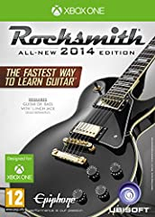 Rocksmith 2014 Edition for Xbox One Improved Interface More Songs and New Features 50 New Songs 80 Lessons Plus New Session Mode More Effects Tunings Amps and Tones Includes Specially Designed Rocksmith USB Cable