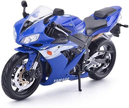 XIUYU Modelo de la Motocicleta Yamaha YZF-R1 Camino Locomotora Simulación joyería de la aleación de fundición a presión de Juguete colección de Coches Deportivos joyería (Color: Azul) (Color : Blue )