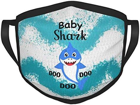 PQUANOVF Baby Shark Song Doo Doo Doo Funny Adult Black Border Masks Outdoor Washable Protective product image