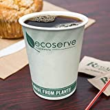 Disposable Eco-Friendly Coffee Cups for Hot Drinks with Biodegradable & compostable Lining and Cups, for Coffee,Tea 100 Pack