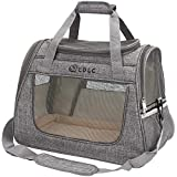 DW Pet Carrier,Cat Carrier Airline-Approved Travel Pet Carrier,Dog Carrier,Suitable for Small and Medium-Sized Cats and Dogs(Light Grey)