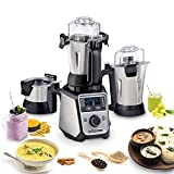 Hamilton Beach Professional Juicer Mixer Grinder, Commercial-Grade 1400 Watt Rated Motor, 3 Leakproof Jars, Advanced Electronics, 120V (58770)