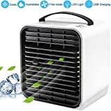 Wassteel Portable Mini Air Cooler Fan Negative Ion Air Cooling Fan & Humidification