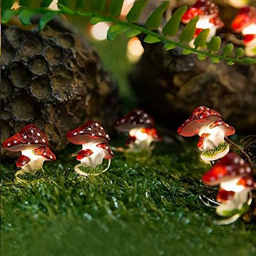 HSD 30 luces con temporizador, resistentes a la lluvia, decorativas, con cuerda de seta y caja de pilas, decoración para fiestas de jardín