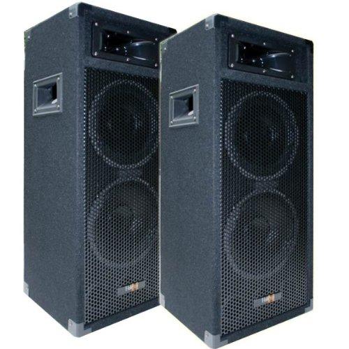 2X 500W DJ Party Lautsprecher Boxen Paar - doppel 8