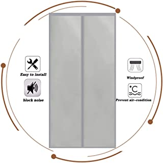 Door Curtain Autumn And Winter Magnetic Screen Door Waterproof Cold Protection Keep Warm Partition Curtain, 32 Sizes (Colo...