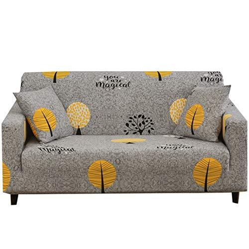 LIZHONG-SLT Sofabezüge,1/2/3/4 Sitzer Sofabezug Stretch Weich Elastisch Farbecht Blumen-Mustersofaüberwurf,schonbezug Polyester Multifunktio Couchabdeckung