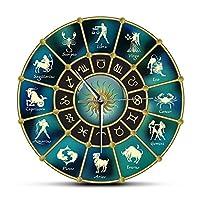 壁掛け時計Diyアクリルミラー壁掛け時計ビッグクォーツ時計モダン時計リビングルーム家の装飾シルバー3Dステッカー(ディープブルー)37インチ