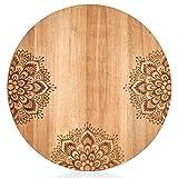 Zeller - Tabla de cortar redonda (27 cm de diámetro, madera de acacia)