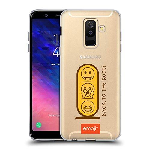 Head Case Designs Oficial Emoji Tableta Antiguo Egipto Carcasa de Gel de Silicona Compatible con Samsung Galaxy A6 Plus (2018)