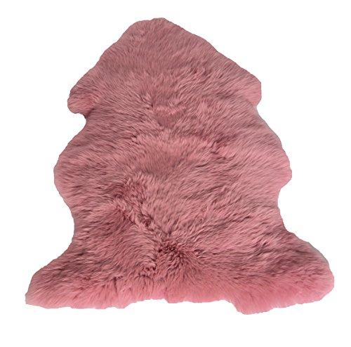 Leibersperger Felle Peau d'agneau/Mouton/Modèle de Lit/Coussin Fauteuil Taille XL 110 cmx70 cm Couleur (Rose) N ° 6033