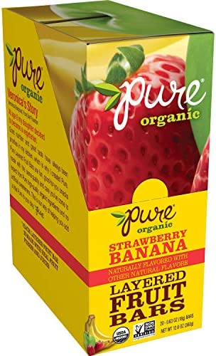 Discontinued by Manufacturer Pure Organic Strawberry Banana Layered Fruit Bar Organic Gluten product image