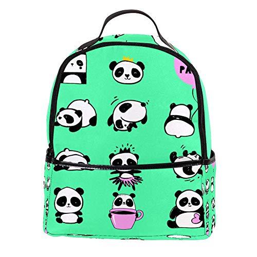 TIZORAX niedlicher Hello Panda Laptop-Rucksack, lässig, Schultertasche, Tagesrucksack für Studenten, Schultasche, Handtasche – leicht