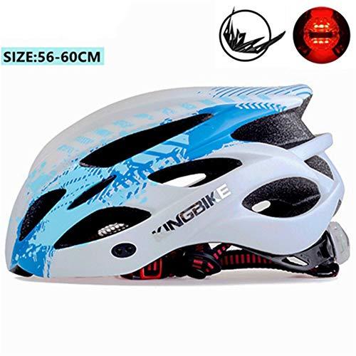Makvio Casco de Bicicleta para Hombre y Mujer, Casco de Seguridad Ultraligero Mate para Ciclismo y Ciclismo, Color J-675-Blue, tamaño Talla única