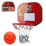 ZDSKSH Canasta Baloncesto Ventosa para Niños y Adultos Juegos de Aire Libre y de Interior Aro De Baloncesto con Red Basketball Hoop Juguetes De Baloncesto con Pelota y Bomba