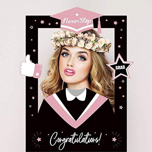 Cornice per foto di laurea con scritta di congratulazioni per foto selfie, fondale per cerimonie di...