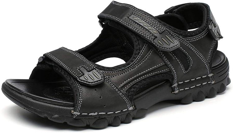Herren Sommer Sommer Sandalen, Fashion Sandalen Open-Toe Klett Light Beach Outdoor Big Größe Schuhe (Farbe  Schwarz, Größe  6,5 UK)  genießen Sie Ihren Einkauf