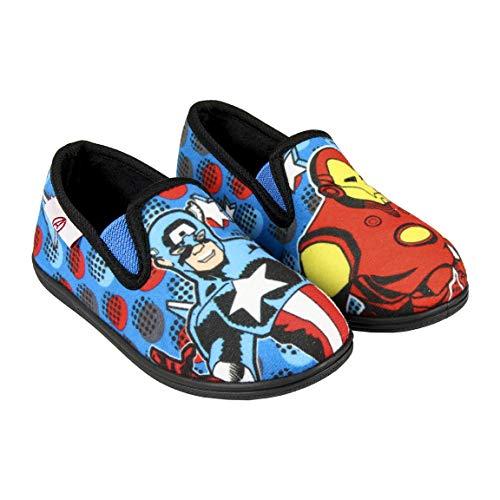 Artesania Cerda Zapatillas De Casa Francesita Avengers, Niño para Niños, Azul (Azul C37), 28 EU
