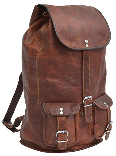 Gusti Leder nature'Louis' Genuine Leather Backpack Rucksack Sling Bag City College Shoulder Leisure Bag Brown Vintage Unisex U29