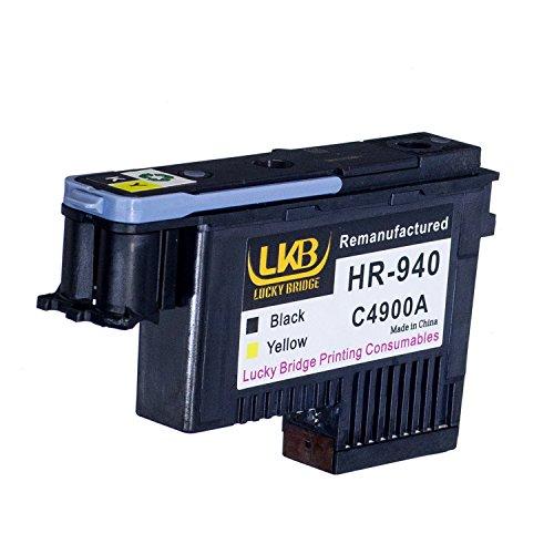 Lucky Bridge HP940 Druckkopf, Schwarz und Gelb, C4900A, wiederaufbereitet, kompatibel mit HP Officejet mit Pro 8000, 8500A, 8500A Plus, 8500A Premium, 1 Stück