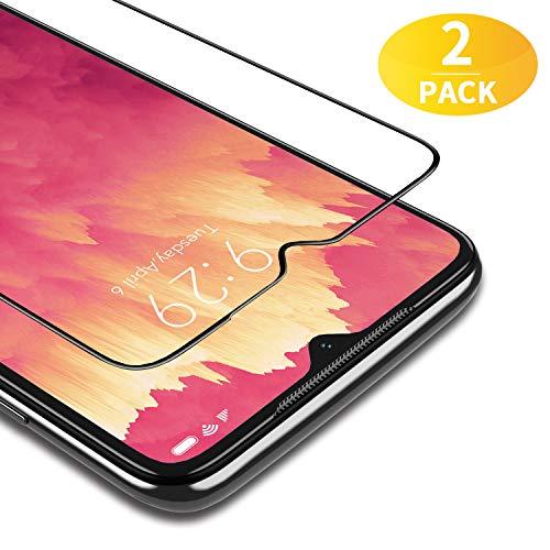 BANNIO für Panzerglas für Xiaomi Redmi Note 8 Pro,2 Stück Full Screen Panzerglasfolie Schutzfolie für Xiaomi Redmi Note 8 Pro,9H Festigkeit Bildschirmschutzfolie,Blasenfrei,Schwarz