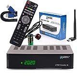ANADOL IZYBOX Combo 4K Receptor de satélite, receptor de cable y receptor DVB-T2, sintonizador DVB-S2X, Multistream, 2 x USB Astra preinstalado, función de grabación PVR, Timeshift