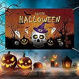 GRESAHOM Pancarta de Halloween, fondo de Halloween, calabaza, decoración de pared, decoración de Halloween, decoración para fiestas de Halloween, 180 x 110 cm