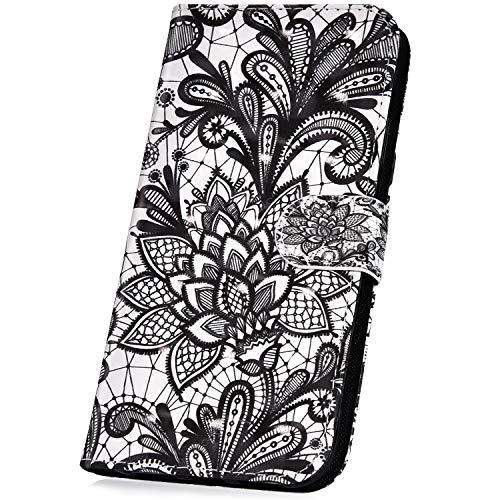 JAWSEU Compatible avec Samsung Galaxy J5 2016 Coque Portefeuille PU Étui Cuir à Rabat Magnétique Mode 3D Motif Femme Homme Ultra Mince Stand Leather PU Flip Wallet Case Cover,#10