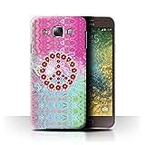 Stuff4 Hülle/Case für Samsung Galaxy E5/E500 / Krawatte Farbstoff Marmor Muster/Hippie Hipster Kunst Kollektion