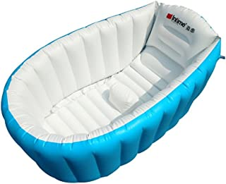 YueYueZou Inflatable Baby Bathtub, Marine Non Slip Swimming Pool for Infants/Toddlers