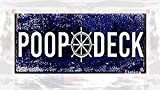 Eletina twinkle Retro Look Home Decor Club bar 6x12 Inch Poop Deck Tin Sign Metal Warning Reminder Sign