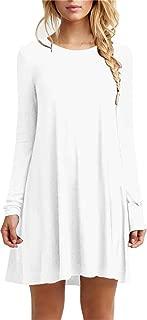 long sleeve dress white