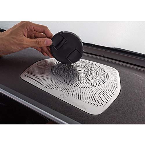 HTSM Audio Oberflächendekor-Abdeckung Car Styling Audio Lautsprecher Armaturenbrett Lautsprecher Tasche Aufkleber Trim Zubehör LHD Für Benz W205 GLC C-Klasse C180 C200 (Color : Silber)