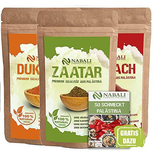 NABALI FAIRKOST FÜR ALLE Zaatar & Dukkah & Sumach Qualitätsware aus Palästina I 100% naturell aromatisch...