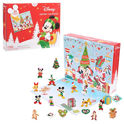 Disney Classic Advent Calendar 2020, 32 Pieces, Figures, Decorations, and Stickers, by Just Play