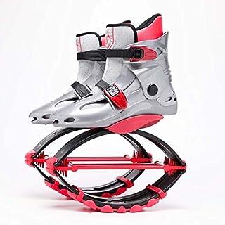 ZHANGYOUDEEU Salto de los Zapatos para niños Adultos Primavera Zapatos de la Aptitud de Salto Zapatos (Color : Gray Red)